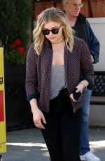 CHLOE MORETZ at Il Pastaio Restaurant in Los Angeles 04/04/2016
