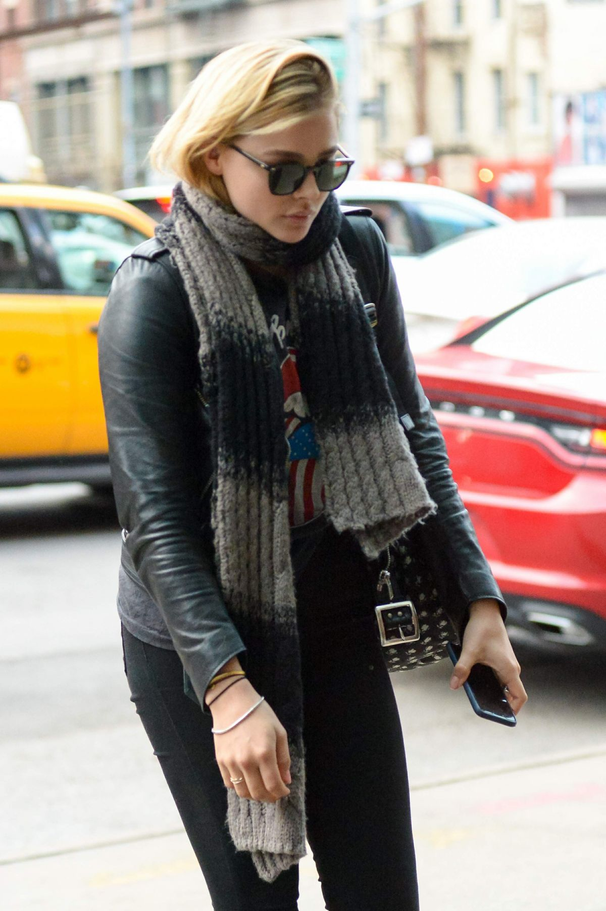 CHLOE MORETZ Out and About in New York 03/25/2016