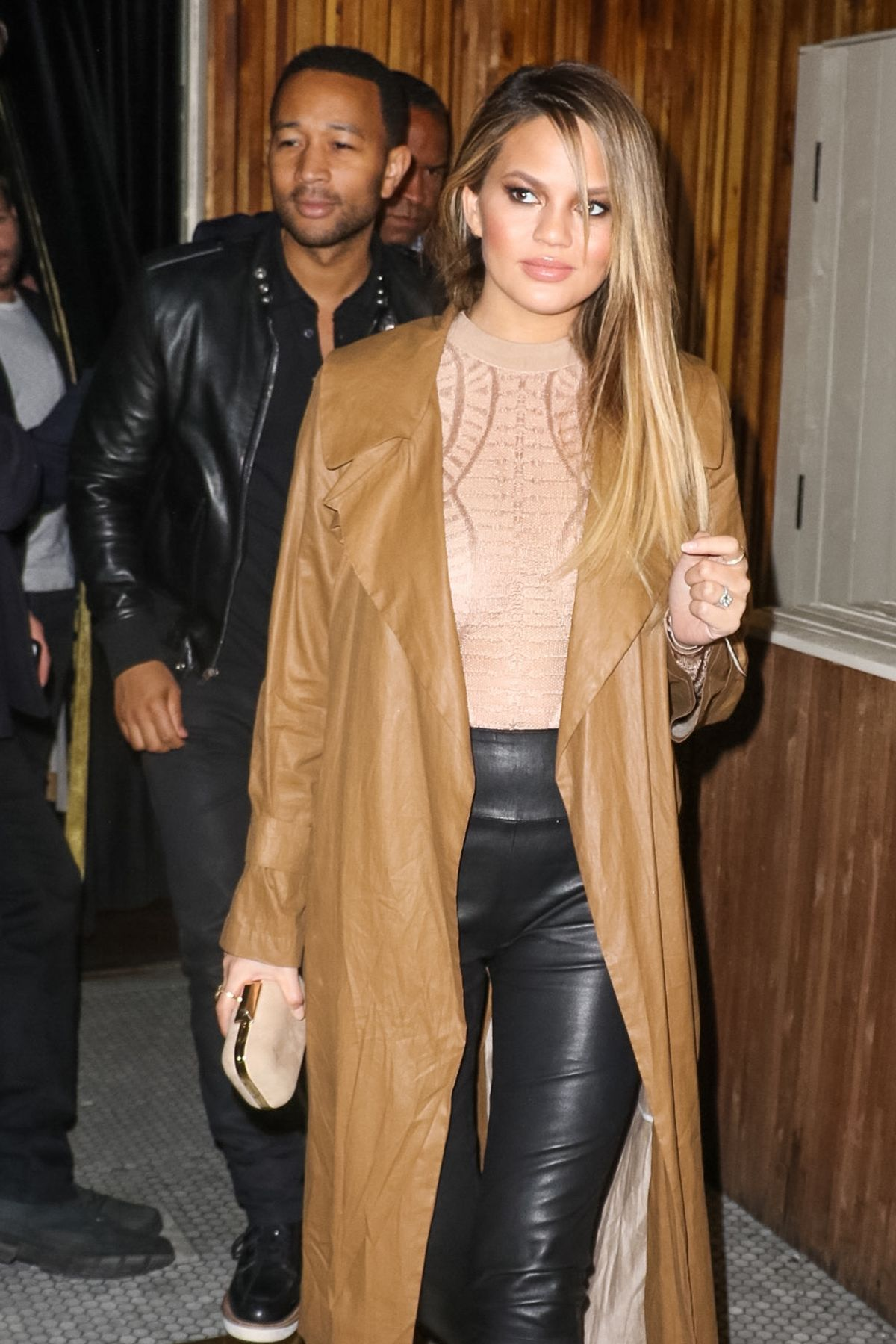CHRISSY TEIGEN Night Out in West Hollywood 04/23/2016