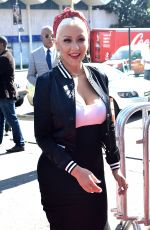 CHRISTINA AGUILERA Arrives at Voice Karaoke for Charity 04/21/2016