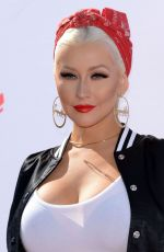 CHRISTINA AGUILERA at Voice Karaoke for Charity in West Hollywood 04/21/2016