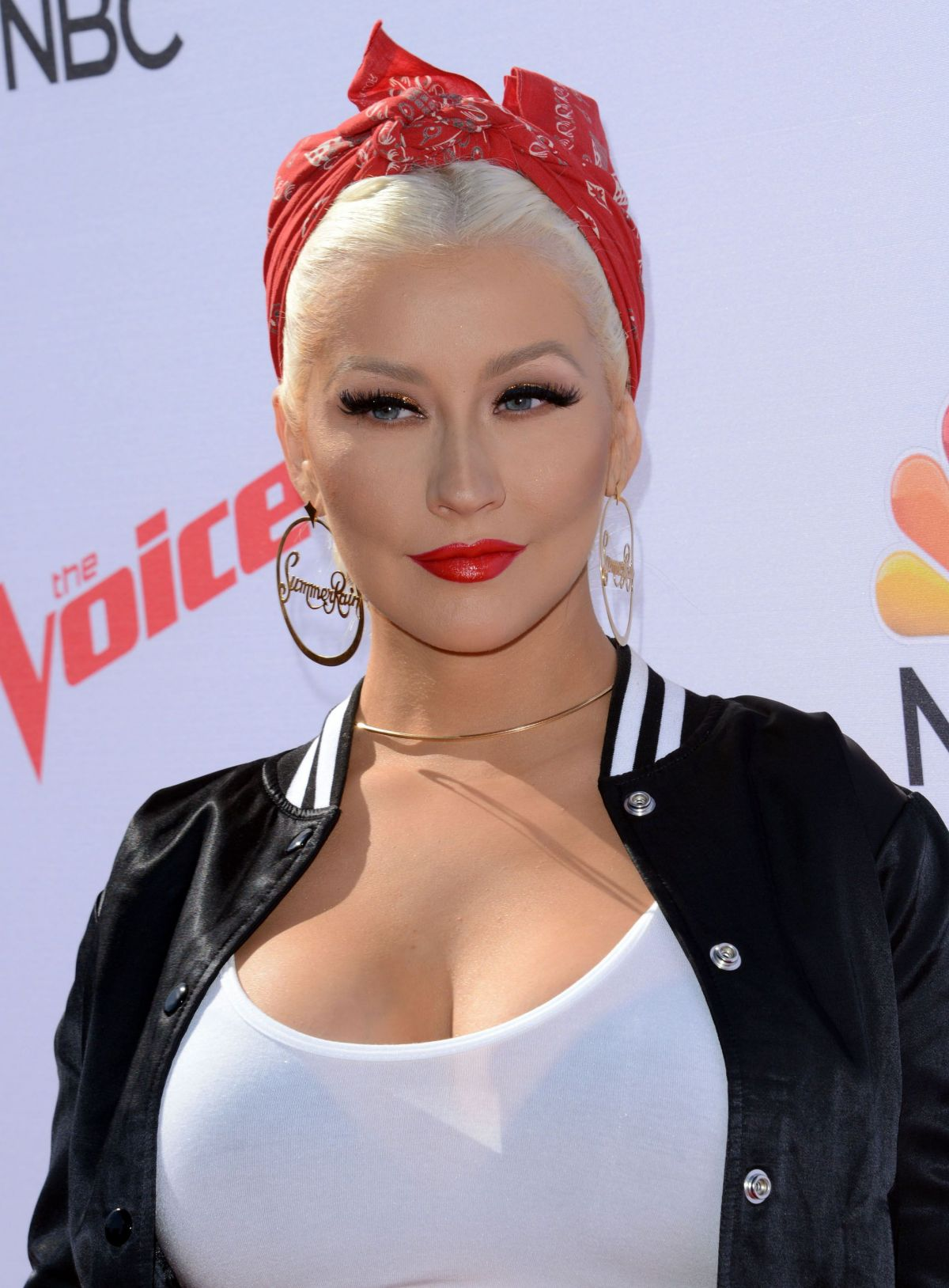 CHRISTINA AGUILERA at Voice Karaoke for Charity in West ... Christina Aguilera
