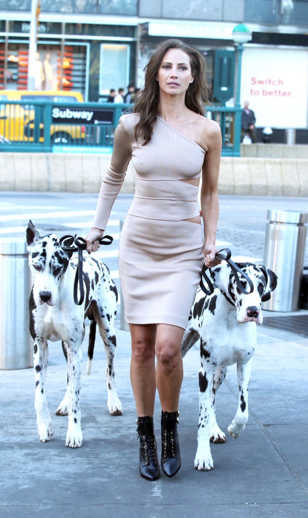 CHRISTY TURLINGTON on the Set of Maybelline Commercial in New York 03/29/2016