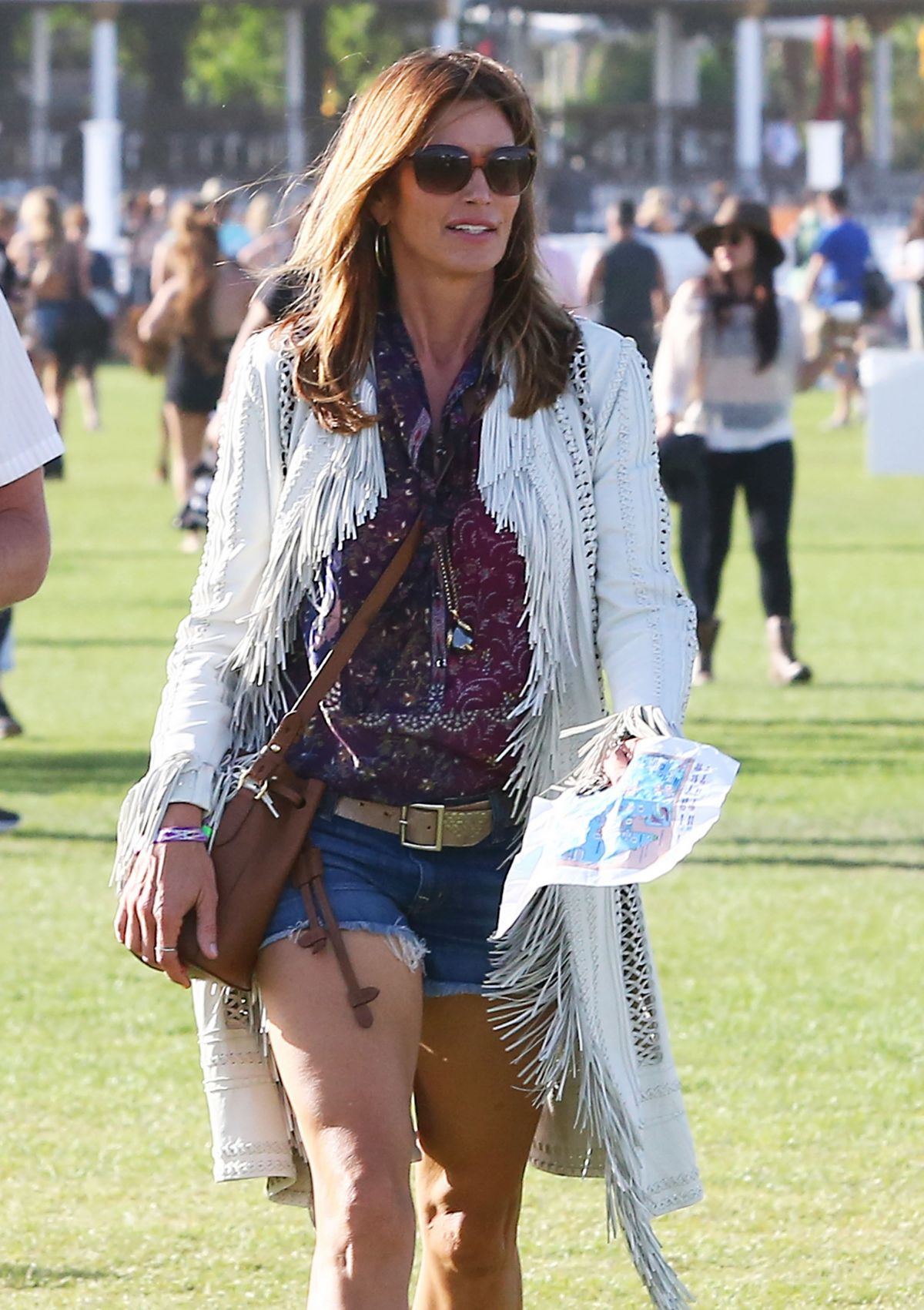 CINDY CRAWFORD at Coachella Valley Music and Arts Festival in Indio 04/15/2016