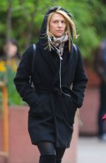 CLAIRE DANES Out and About in New YOrk 04/29/2016