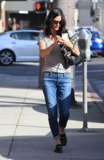 COURTNEY COX Out and About in Beverly Hills 04/25/2016