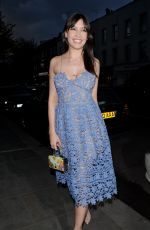 DAISY LOWE Leaves a Restaurant Launch Party in London 04/27/2016