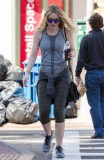 DAKOTA FANNING in Leggings Out in New York 04/20/2016