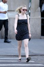 DAKOTA FANNING Out and About in New York 04/19/2016