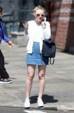 DAKOTA FANNING Out and About in New York 04/21/2016