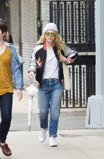 DAKOTA FANNING Out in New York 04/26/2016