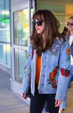 DAKOTA JOHNSON at JFK Airport in New York 04/30/2016