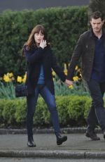 DAKOTA JOHNSON on the Set of 'Fifty Shades Darker' in Vancouver 04/04/2016