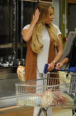 DANIELLE ARMSTRONG, GEORGIA KOUSOULOU and KATE WRIGHT Shopping at Tesco in Essex 03/15/2016