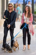 DANIELLE VASINOVA Ealks Her Dogs Out in Los Angeles 03/18/2016