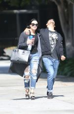 DEMI LOVATO and Wilmer Valderrama Out in West Hollywood 04/14/2016