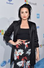 DEMI LOVATO at We Day California in Inglewood 04/07/2016