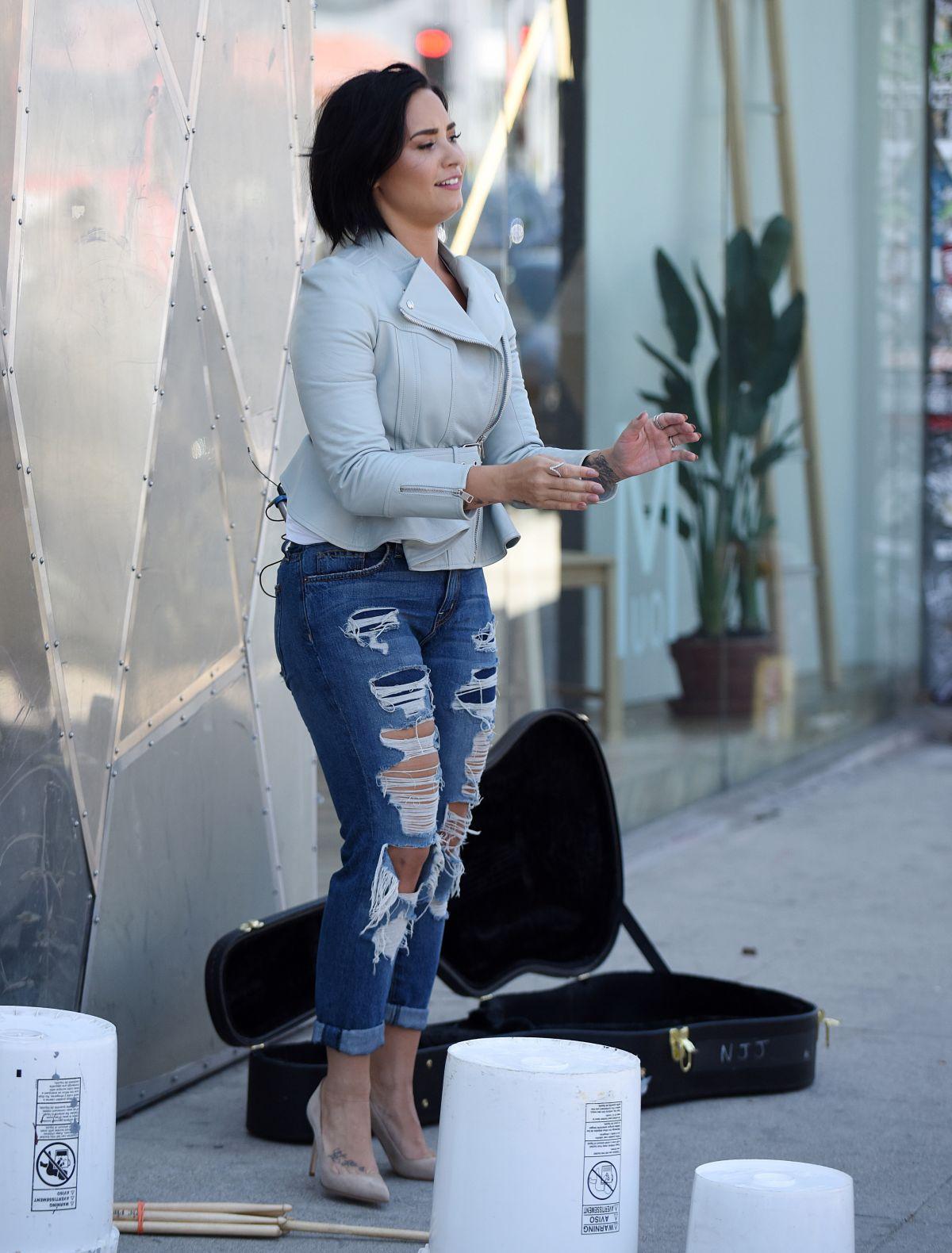 Demi Lovato Films Carpool Karaoke Nick Jonas James Corden Los Angeles