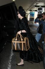 DITA VON TEESE at LAX AIrport in Los Angeles 03/31/2016