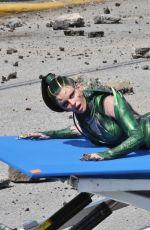 ELIZABETH BANKS at Power Rangers Set in Vancouver 04/26/2016