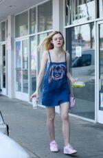 ELLE FANNING Leaves El Pollo Loco in West Hollywood 04/06/2016