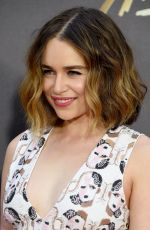 EMILIA CLARKE at 2016 MTV Movie Awards in Burbank 04/09/2016