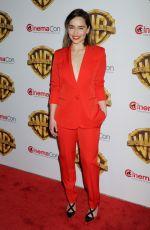 EMILIA CLARKE at Warner Bros. Presentation at Cinemacon 2016 in Las Vegas 04/12/2016