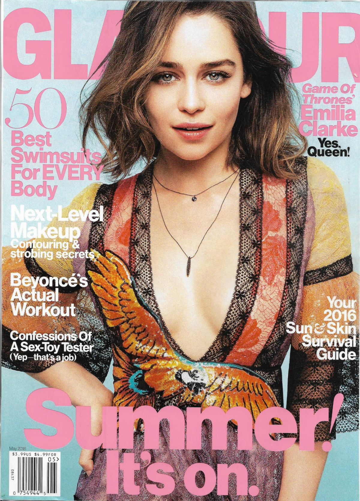 EMILIA CLARKE in Glamour Magazine, May 2016 Issue
