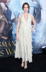EMILY BLUNT at 'The Huntsman: Winter's War' Premiere in Westwood 04/11/2016
