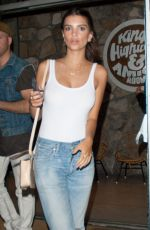 EMILY RATAJKOWSKI Leaves King;s Highway Restaurant in Palm Smrings 04/14/2016