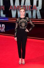 EMILY VANCAMP at Captain America: Civil War Premiere in London 04/26/2016
