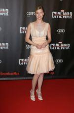 EMILY VANCAMP at Captain America: Civil War Premiere in Paris 04/18/2016