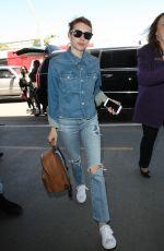EMMA ROBERTS at Los Angeles International Airport 04/28/2016