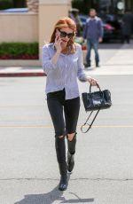 EMMA ROBERTS at Sugarfish in Beverly Hills 04/26/2016