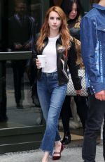 EMMA ROBERTS in Jeans Out in New York 04/28/2016