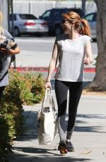 EMMA ROBERTS Leaves a Gym in Los Angeles 04/05/2016