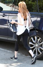 EMMA ROBERTS Leaves a Gym in West Hollywood 04/11/2016