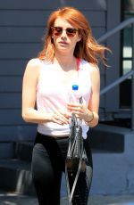 EMMA ROBERTS Leaves a Gym in West Hollywood 04/27/2016