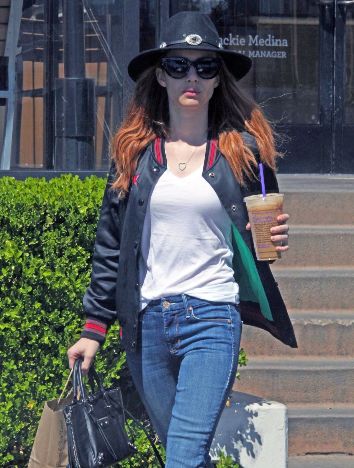 EMMA ROBERTS Leaves Coffee Bean and Tea Leaf in Los Angeles 04/23/2016
