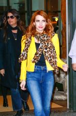 EMMA ROBERTS Leaves Her Hotel in New York 04/29/2016
