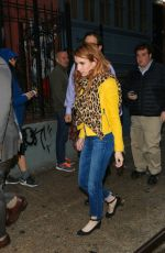 EMMA ROBERTS Night Out in New York 04/29/2016