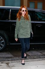 EMMA ROBERTS Out and About in New York 04/29/2016