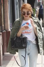 EMMA ROBERTS Out and About in West Hollywood 04/26/2016