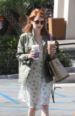 EMMA ROBERTS Out and About in West Hollywood 04/28/2016