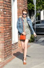 EMMA ROBERTS Out in West Hollywood 03/30/2016
