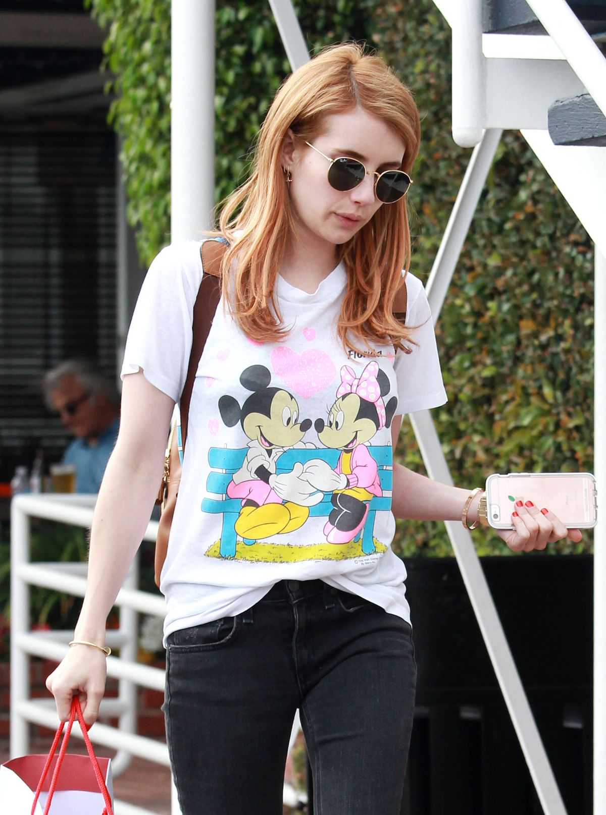 EMMA ROBERTS Out Shopping in Los Angeles 04/06/2016