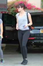EMMA STONE in Tights Out in Beverly Hills 04/06/2016