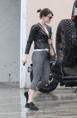 EMMA STONE Outside at a Gym in West Hollywood 04/09/2016
