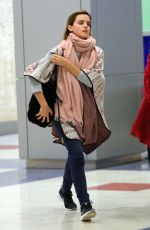 EMMA WATSON at JFK Airport in New York 04/03/2016