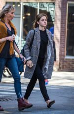 EMMA WATSON Leaves a Restaurant in New York 04/27/2016